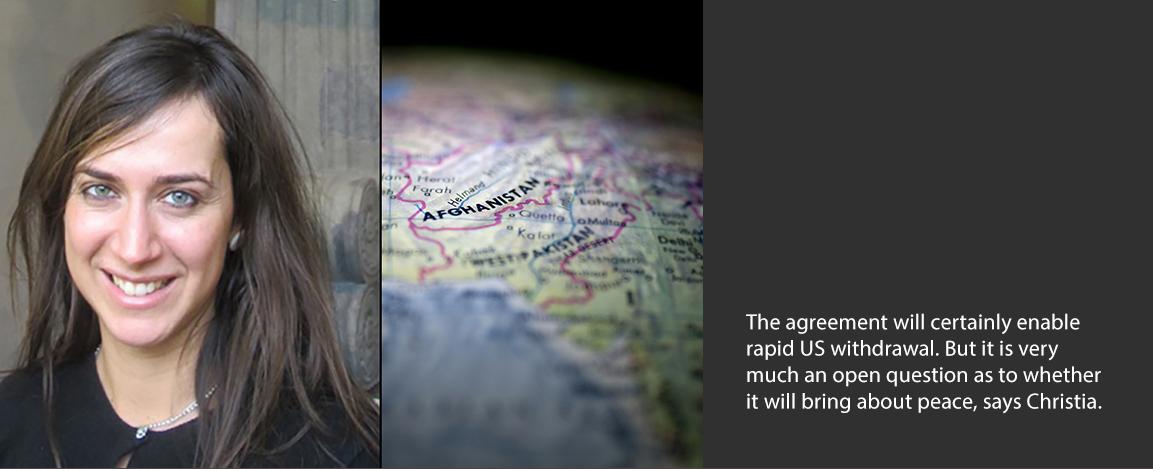 Fotini Christia and map of Afghanistan