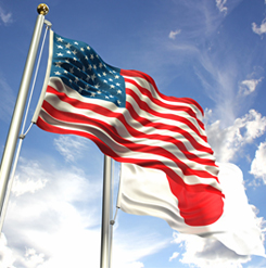 US-Japan Flags