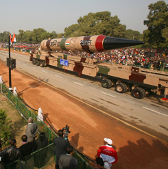 A nuclear-capable missile was displayed in the Republic Day Parade in New Delhi in 2009.