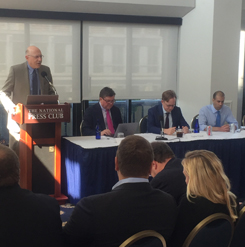 SSP director, Barry Posen, the panel (Jim Walsh, Taylor Fravel, and Vipin Narang)