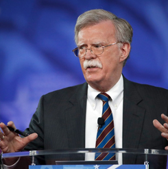 White House national security adviser John Bolton