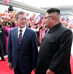 Leaders of two Koreas parade through Pyongyang ahead of nuclear talks | Reuters