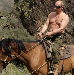 Shirtless Vladimir Putin On A Horse
