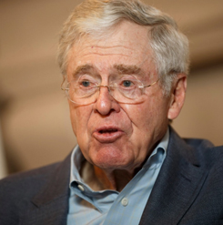 Charles Koch is investing in foreign policy programs at elite American universities. (Patrick T. Fallon/For The Washington Post)