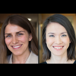 PhD Candidates Rachel Esplin Odell and Meicen Sun  Images: Daniel DeKadt
