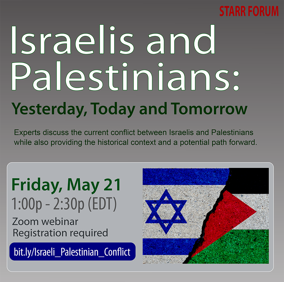 Israelis and Palestinians Poster
