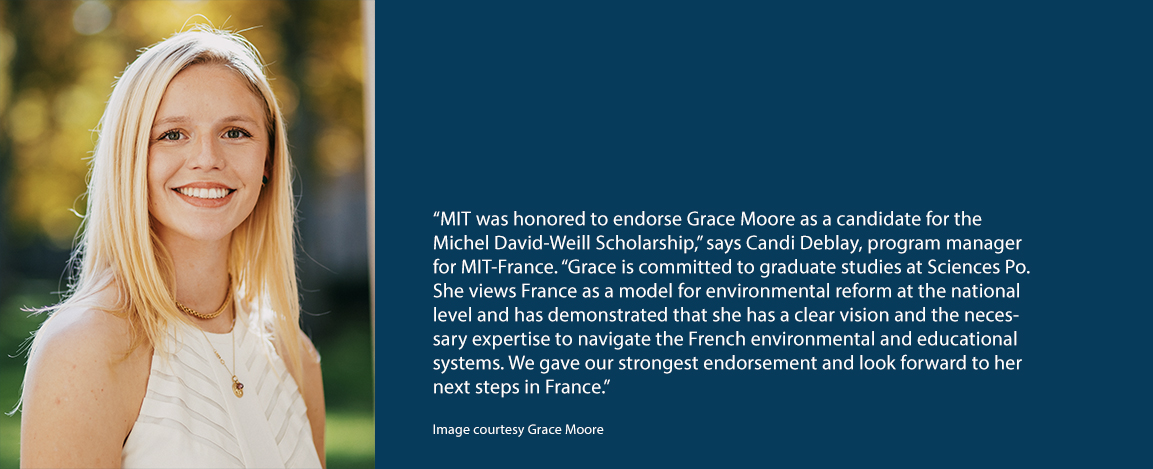 Grace Moore and nominating quote from MIT France