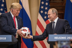 Trump and Putin - Game theory? Photographer: Chris McGrath/Getty Images Europe