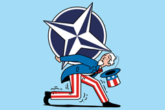 NATO on Uncle Sam's back