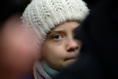 Greta Thunberg, protesting in Brussels this month