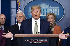 President Trump addressing Covid-19
