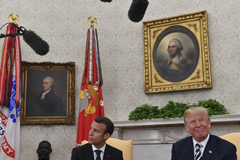 President Trump told French President Emmanuel Macron last month that he would probably leave the Iran deal. (Ricky Carioti/The Washington Post)
