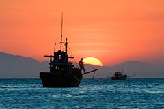 Ship on the South China Sea
