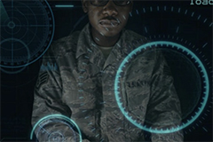 Man in military uniform with AI