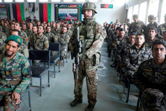 Attending an Afghan National Army graduation ceremony in Kabul, Afghanistan, January 2019 Omar Sobhani / Reuters