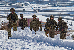 US troops on a joint patrol with Afghan security forces
