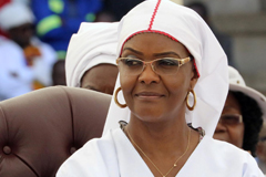 Grace Mugabe at a church interface rally in Harare, November 2017.