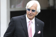 Thoroughbred trainer Bob Baffert at Churchill Downs for the 2019 Kentucky Derby. Baffert's horse McKinzie may run in the debut $20-million Saudi Cup in Riyadh in February. (Gregory Payan / Associated Press )