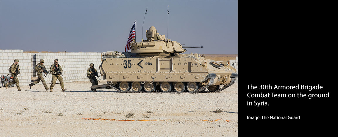 The 30th Armored Brigade Combat Team on the ground in Syria. (Image: The National Guard)