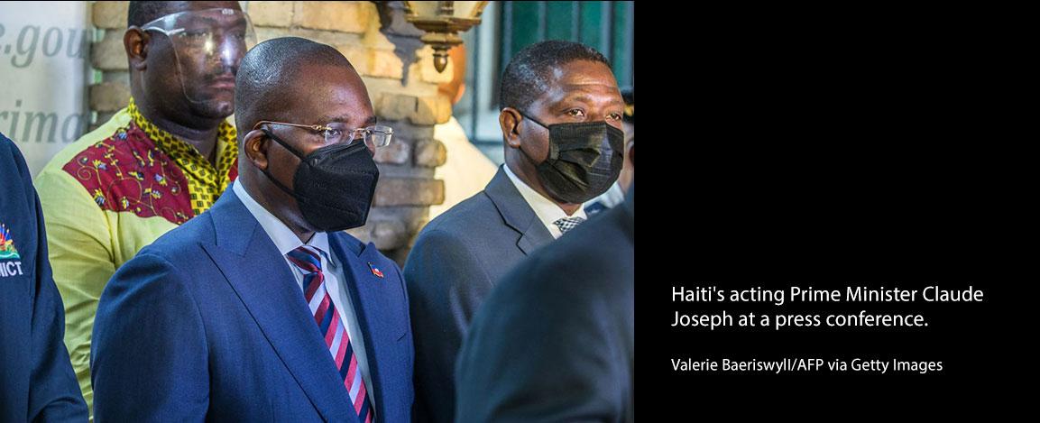 Haiti's acting prime minister Claude Joseph