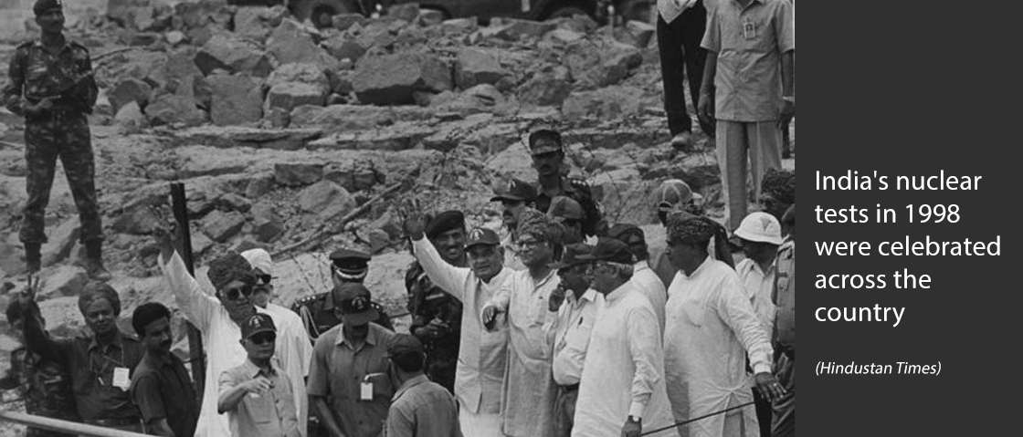 India's nuclear tests in 1998 were celebrated across the country