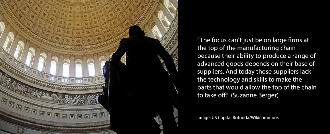 Suzanne Berger quote with photo of US Capital Rotuna
