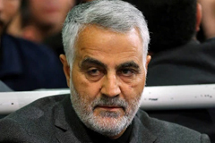 In this March 27, 2015 file photo released by an official website of the office of the Iranian supreme leader, commander of Iran's Quds Force, Qassem Soleimani, sits in a religious ceremony at a mosque in the residence of Supreme Leader Ayatollah Ali Khamenei in Tehran, Iran. A U.S. airstrike near Baghdad's airport on Friday Jan. 3, 2020 killed Gen. Qassem Soleimani, the head of Iran's elite Quds Force. Soleimani was considered the architect of Iran's policy in Syria. (Office of the Iranian Supreme Leader v