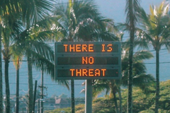 It took 38 minutes for officials to correct a false alert that said a missile was heading for Hawaii.Instagram/@sighpoutshrug/via REUTERS