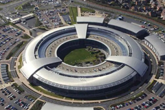 An aerial image of Britain's Government Communications Headquarters (GCHQ) in Gloucestershire. Picture: Ministry of Defence