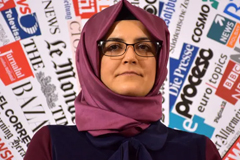 Hatice Cengiz has been an outspoken advocate for justice for Jamal Khashoggi, who was killed in the Saudi consulate in Turkey in October 2018. Photograph: Anadolu Agency via Getty Images