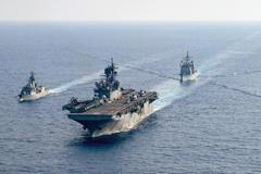 US navy fleet at sea