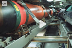Nuclear sub's torpedo room
