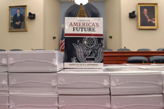 Copies of President Trump's FY2021 budget are shown after being delivered to the House Budget Committee on February 10, 2020, in Washington, DC. Mark Wilson/Getty Images