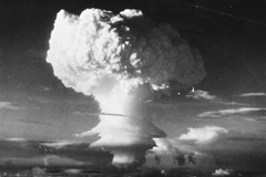 The first H-bomb explosion at Eniwetok Atoll in the Pacific Three Lions/Getty Images