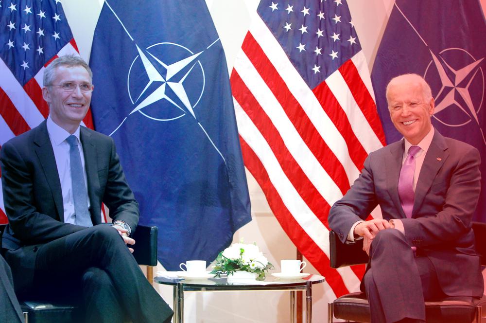 President Biden with head of NATO