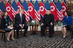 President Donald J. Trump and Kim Jong Un, Chairman of the State Affairs Commission