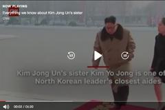 screenshot of CNN video with North Korean leader Kim Jong Un and his sister walking