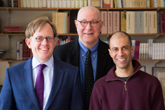 MIT Asian security studies faculty (left to right) M. Taylor Fravel, Richard Samuels, and Vipin Narang train the next generation of scholars and security policy analysts; counsel national security officials in the U.S. and abroad; and inform policy through publications and frequent contributions to public debates.