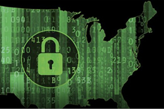 USA map – cybersecurity © Getty Images