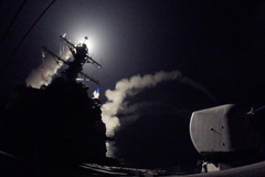 The guided-missile destroyer USS Porter launched a missile strike against Syria on Friday.