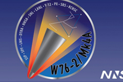 The NNSA's new mission logo for the W76-2 low-yield, submarine-launched, ballistic-missile warhead.