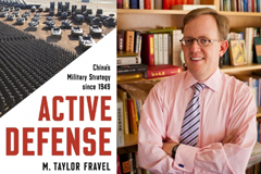 "Taylor Fravel and his new book, ""Active Defense: China's Military Strategy Since 1949.""  Image: Taylor Fravel and Dominick Reuter"