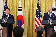 President Moon Jae-in of the Republic of Korea and the US President Joe Biden
