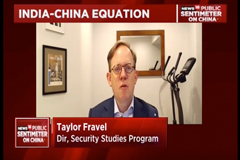 Screenshot of Taylor Fravel speaking during TV interview