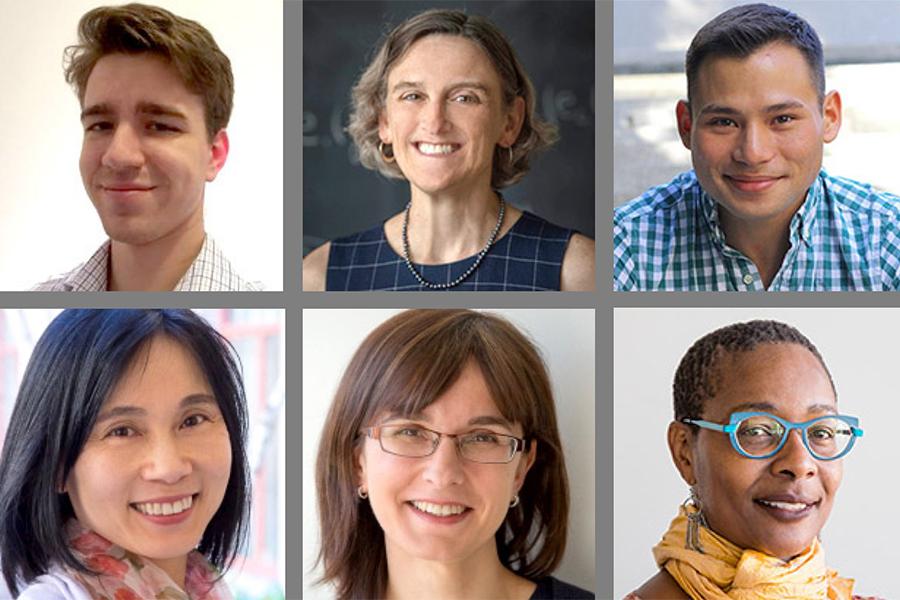 Headshot grid of Daniel Clark, Sara Ellison, Erik Lin-Greenberg, Masami Ikeda-Lamm, Maria Khotimsky, and Kenda Mutongi