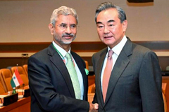 External Affairs Minister S Jaishankar shakes hands with Foreign Minister of the People's Republic of China Wang Yi. File   | Photo Credit: PTI