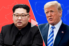 North Korean leader Kim Jong Un and United States President Donald Trump