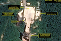 A satellite image shows progress at the Sohae Satellite Launching Station.