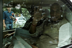 India's Defence Minister Rajnath Singh leaves after a meeting at the house of Prime Minister Narendra Modi's house in New Delhi, India, August 5, 2019. REUTERS/Adnan Abidi