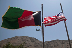 US and Afghanistan flags